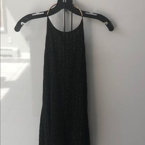Black and gold Zara tunic with open back